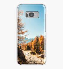 Autumn trekking in the alpine Pusteria valley Samsung Galaxy Case/Skin