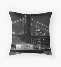 Night-Skyline NEW YORK CITY b&w Kissen