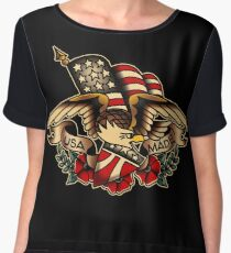 USA Made Patriotic Eagle Chiffon Top