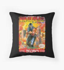 NINJA GAIDEN NES COVER Throw Pillow
