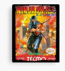 NINJA GAIDEN NES COVER Canvas Print