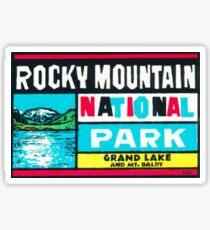 Rocky Mountain National Park Grand Lake and Mt. Baldy Vintage Decal Sticker