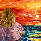 Mediterranean Sunset mosaic art by Adriana Zoon