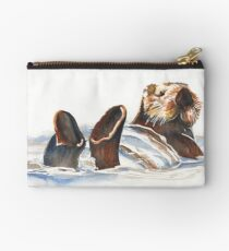 Seaotter - floating in Monterey Bay Studio Pouch