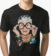 iris apfel - Fashion is ultimately a form of self-expression. That's why I love trying out new things. Tri-blend T-Shirt