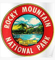 Rocky Mountain National Park Colorado Vintage Decal - Longs Peak Poster