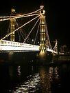 Albert Bridge, River Thames, London. by Colin  Williams Photography
