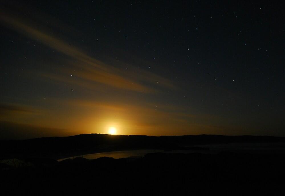 Moonrise over Hanson Bay #2 by Wayne England