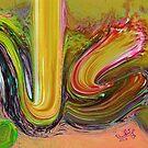 Al Aleem Allah name Painting by HAMID IQBAL KHAN