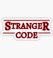 Stranger Code for Programmers and Developers - Stranger Things Re-Work Sticker