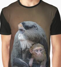 De Brazza's Monkey Babysitting Graphic T-Shirt