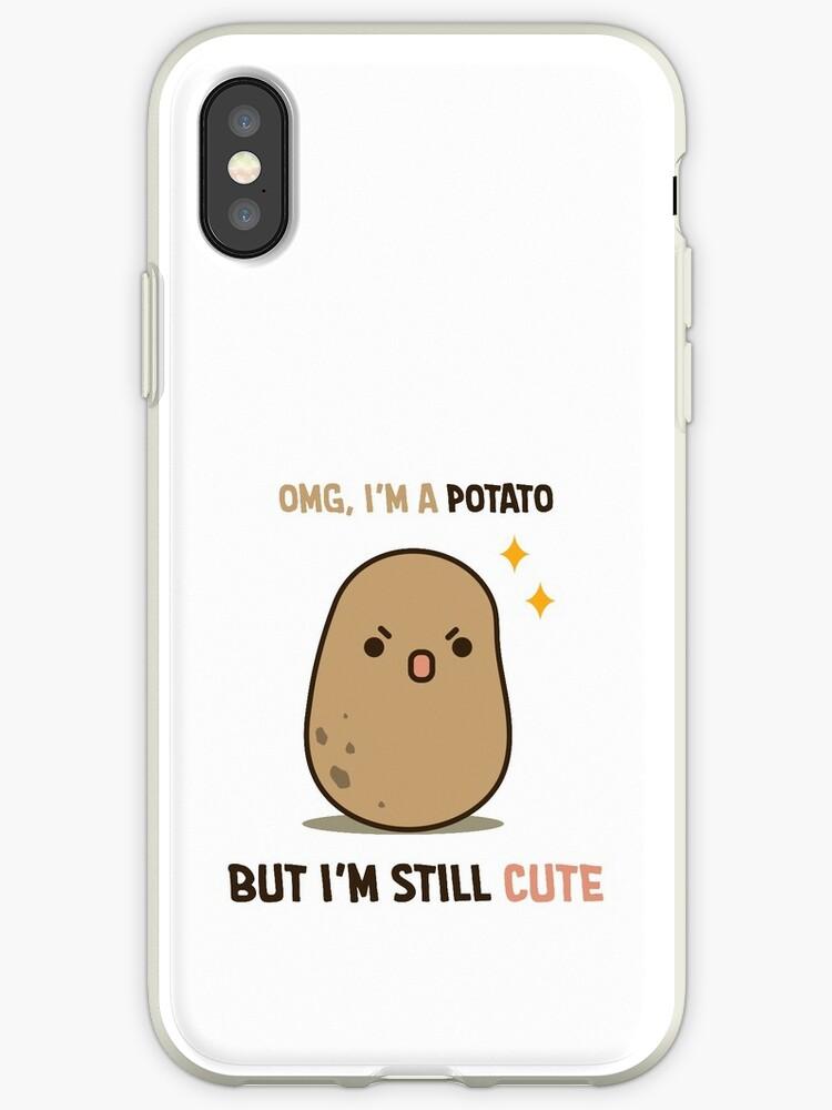 save off ef44c e969b 'Cute potato is cute' iPhone Case by clgtart