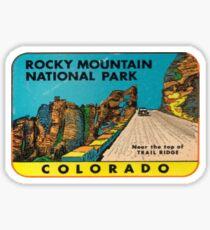 Vintage Rocky Mountain National Park Colorado, USA Travel Decal Sticker