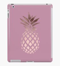 Elegant rose gold pineapple  iPad Case/Skin