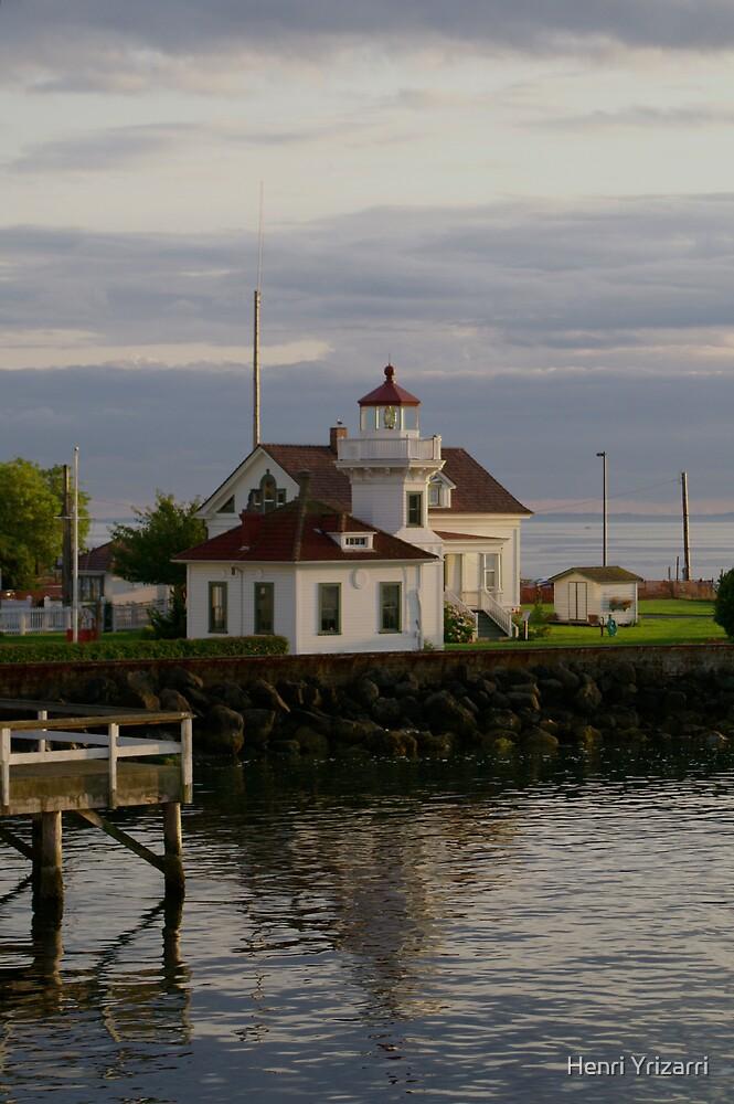 Lighthouse at Mukilteo, Washington by Henri Irizarri