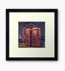 Telephone london Framed Print