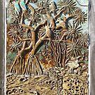 Pandanus tectorius Fired Glaze Pottery, Coolum Beach by Keith Richardson