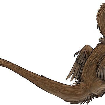 Sitting Velociraptor Sticker by jfells