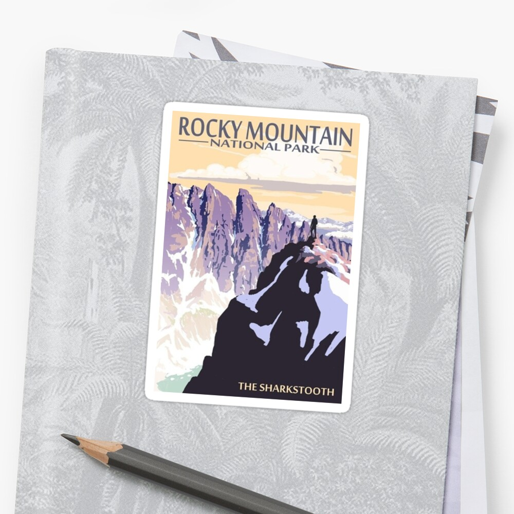 Rocky Mountain Nationalpark Colorado USA - Der Sharkstooth Sticker