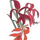 Red flowers Victoria pattern by olgart