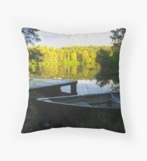 None Fishing Throw Pillow
