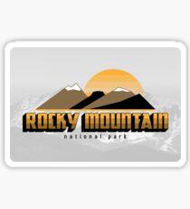 Vintage Rocky Mountain National Park Travel Decal - Colorado U.S.A Sticker