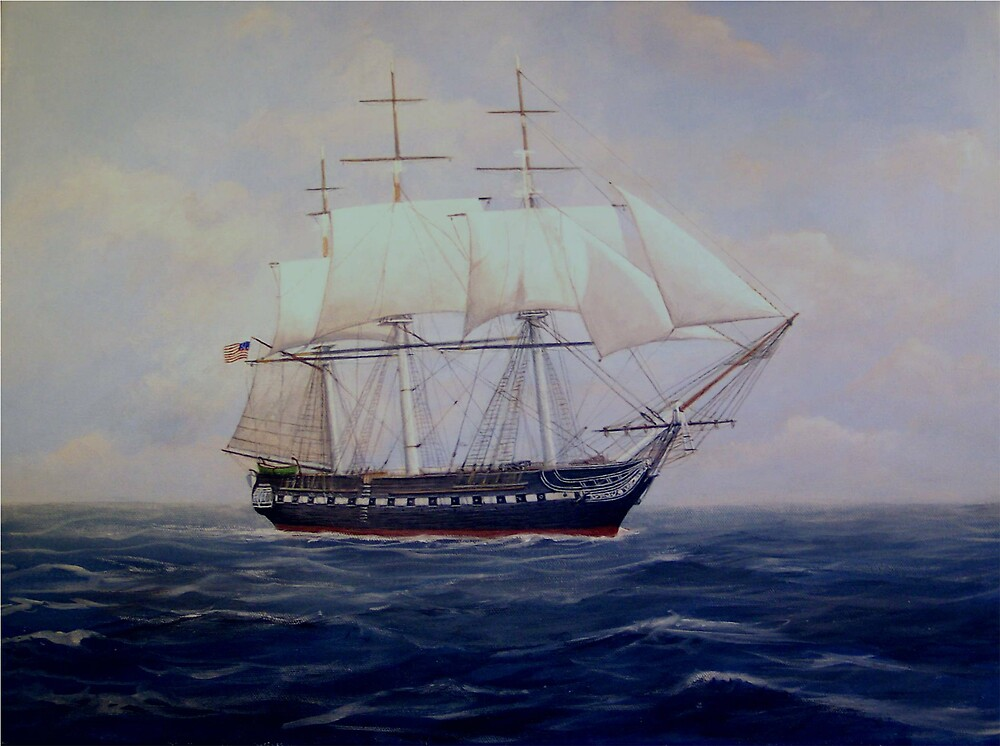 USS Constitution by William H. RaVell III