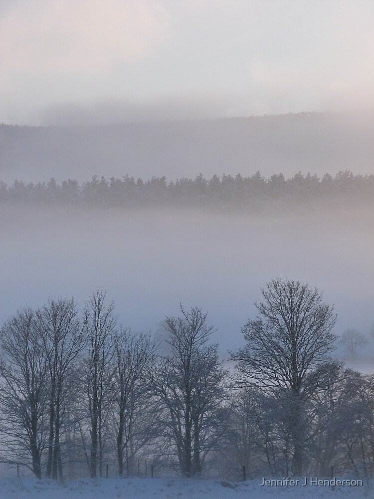 Misty Trees by Jennifer J Watson