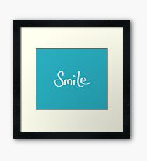 Just Smile - turquoise Framed Print