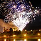 Castle Illuminations - Fireworks at Inverness Castle in Scotland by John Kelly Photography (UK)