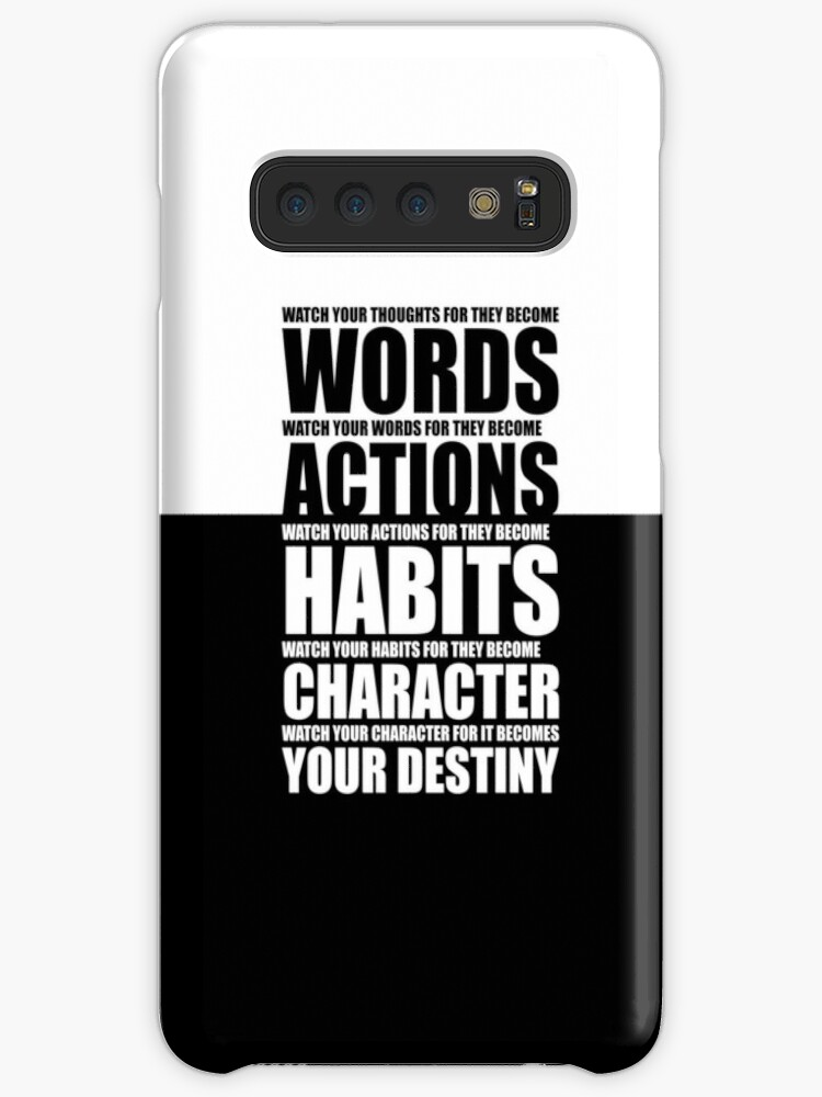 Watch Your Thoughts Gym Motivational Quotes Cases Skins For