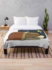 Sleeping Potato Throw Blanket