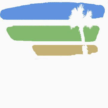 Palm Watercolor by HarborJustin