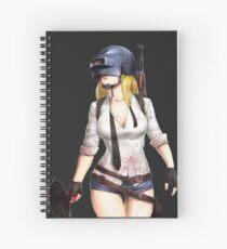 The PUBG Girl Spiral Notebook