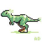 8-bit T-Rex by Ashley Dadoun