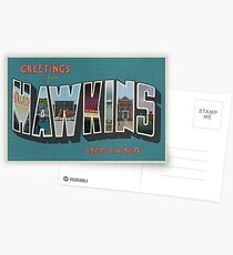 Greetings from Hawkins, Indiana Postcards
