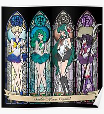 S.M. Crystal stained glass style Poster