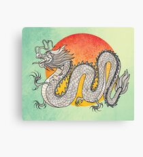 Champagne Dragon Canvas Print