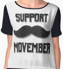 Support Movember Women's Chiffon Top