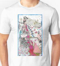 "Drawing ""A flamingo hair woman"" Unisex T-Shirt"