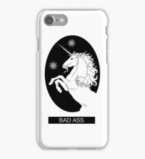 Black Bad Ass Unicorn  iPhone Case/Skin