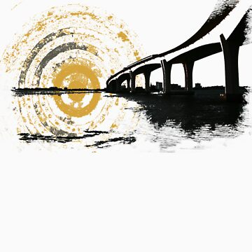 The bridge and the sun merge... by HarborJustin