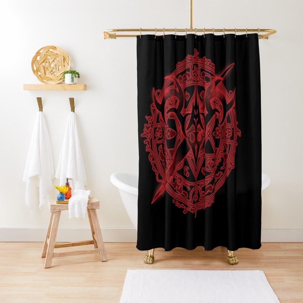Saber servant summoning Shower Curtain