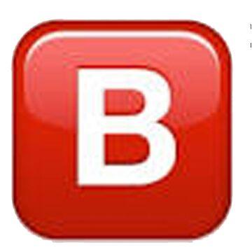 B emoji  by SamsonBryant