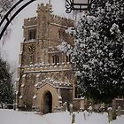 St Peter and St Paul Church, Tring, in the snow. by katiecornet