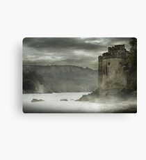 DARTMOUTH CASTLE IN MORNING MIST Canvas Print