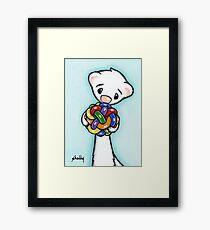 Fluffy and Her Ball Framed Print