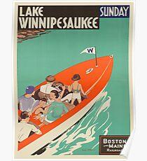 Vintage poster - Lake Winnipesaukee Poster
