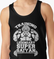 training to be legendary super saiyan gym workout Tank Top