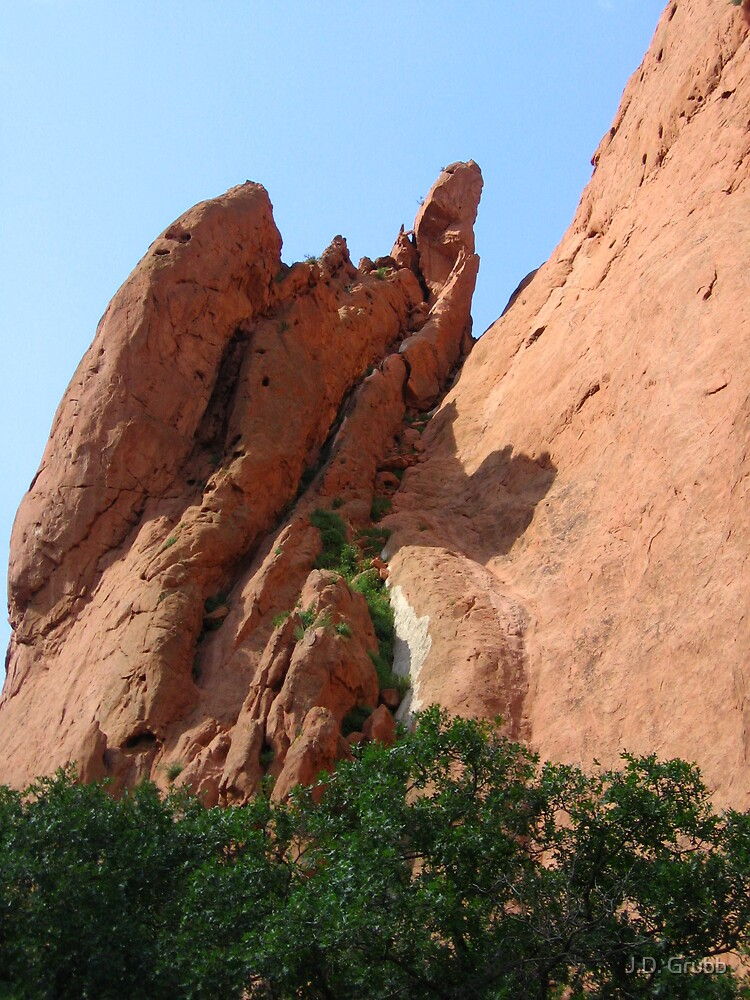 Parapet of North Gateway Rock, Garden of the Gods, Colorado Springs, CO 2007 by J.D. Grubb